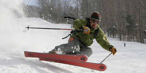 Skiing with Speed 500x250 - Berkshire East Mountain Resort - Charlemont, MA