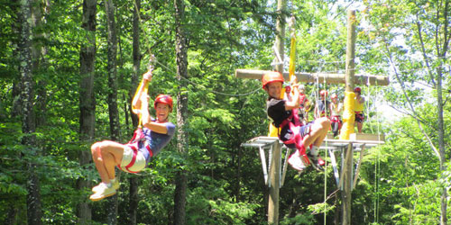 Zip Line Summer Duo 500x250 - Berkshire East Mountain Resort - Charlemont, MA