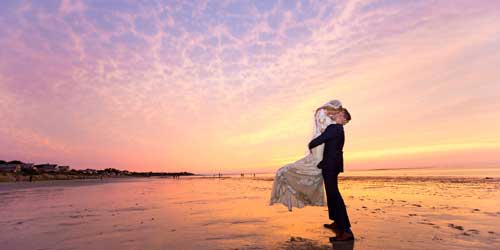 Wedding Sunset Ocean Edge Resort & Golf Club Brewster Massachusetts