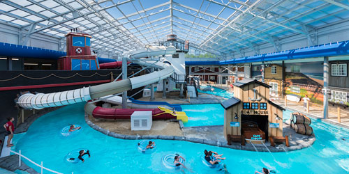 Water Park Aerial View 500x250 - Cape Codder Resort & Spa - Hyannis, MA