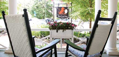 Front Porch Red Lion Inn Stockbridge Massachusetts