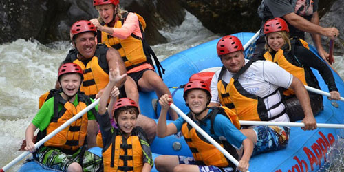 Family Rafting 500x250 - Crab Apple Whitewater - Charlemont, MA