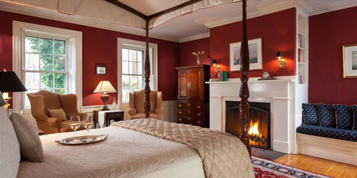 Room #5 with Fireplace 500x250 - Harbor Light Inn - Marblehead, MA