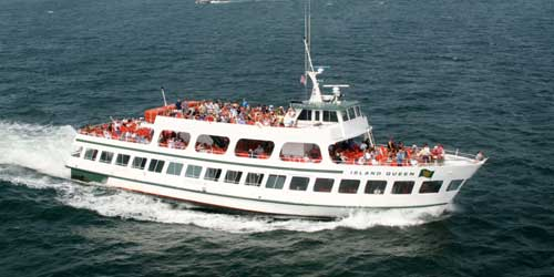 Aerial Boat - Island Queen - Falmouth, MA