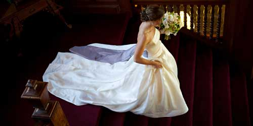 Cranwell Spa and Golf Resort Bride Lenox MA Photo Credit Tricia McCormack