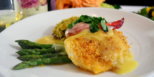 Lobster Crusted Cod 500x250 - Dan'l Webster Inn and Spa - Sandwich Village, MA