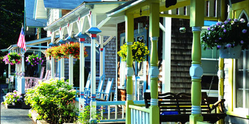 Martha's Vineyard Camp Meeting Association, located in the town of Oak Bluffs on Martha's Vineyard gingerbread cottages