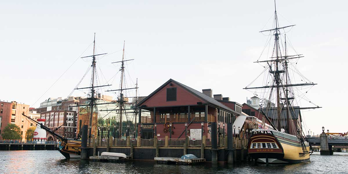 Boston tea party museum exterior
