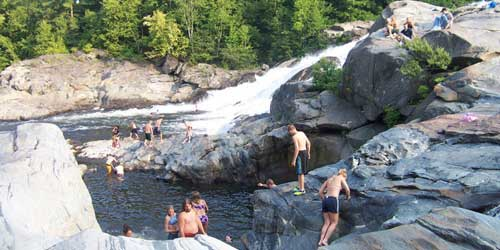 swimming hole at Shelburne Falls MA