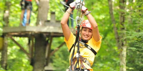 Summer Zip Line - Zoar Outdoor - Charlemont, MA