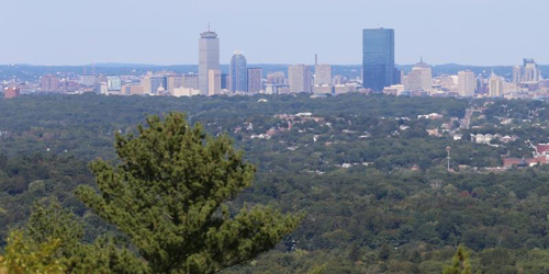 View of Boston Skyline from Blue Hills - Discover Quincy - Quincy, MA