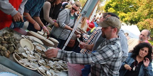 Wellfleet OysterFest in October - Cape Cod, MA