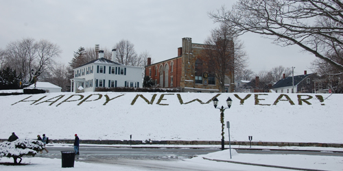 Happy New Year in Snow - Plymouth County, MA