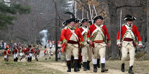 patriots day at minute man national historical park MA