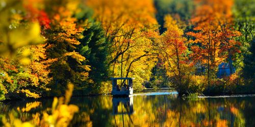 Autumn Boat River - Old Sturbridge Village - Sturbridge, MA