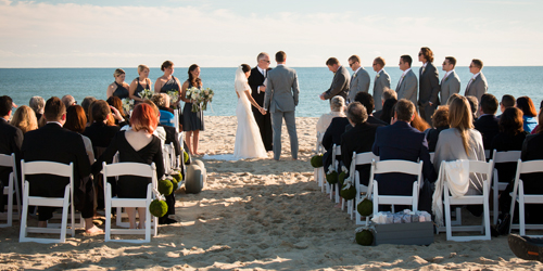 Beach Wedding Ceremony - Winnetu Oceanside Resort - Edgartown, MA
