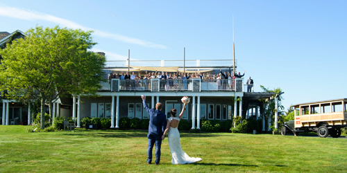 Wedding Couple - Winnetu Oceanside Resort - Edgartown, MA