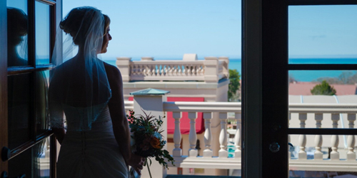 Bride on the Balcony - Ocean Edge Resort & Golf Club - Brewster, MA