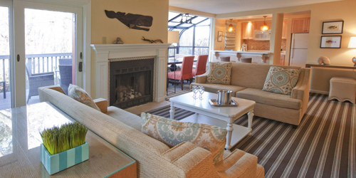 The Mansion Living Room - Ocean Edge Resort & Golf Club - Brewster, MA