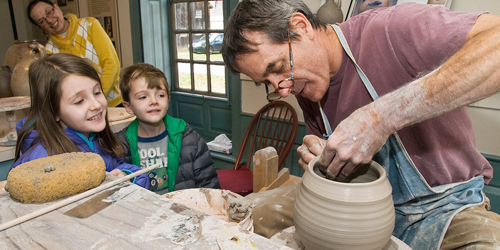 Pottery Lesson Kids - Deerfield Inn - Deerfield, MA