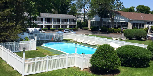 Outdoor Pool View - ShoreWay Acres Inn - Falmouth, MA