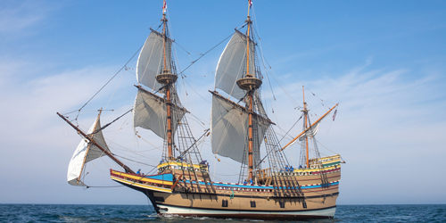 Mayflower II - Photo Credit Plimoth Patuxet - Plymouth County, MA