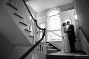 Wedding Staircase BW - Lord Jeffery Inn - Amherst, MA