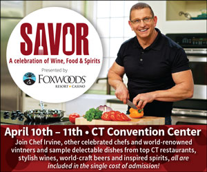 Sip, Stroll, SAVOR - A Celebration of Wine, Food & Spirits. April 10-11, 2015 at the CT Convention Center in Hartford
