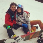 Snowboard Couple - Berkshire East - Charlemont, MA