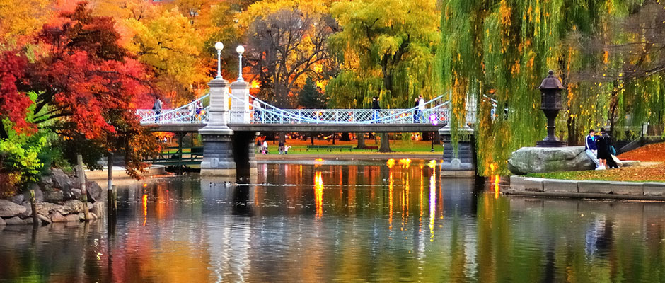 Fall at Boston Public Garden