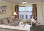Living Room View - The Cove on the Waterfront - Orleans, MA