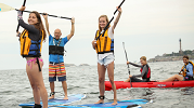 Standing Paddlers - Little Harbor Boathouse - Marblehead, MA